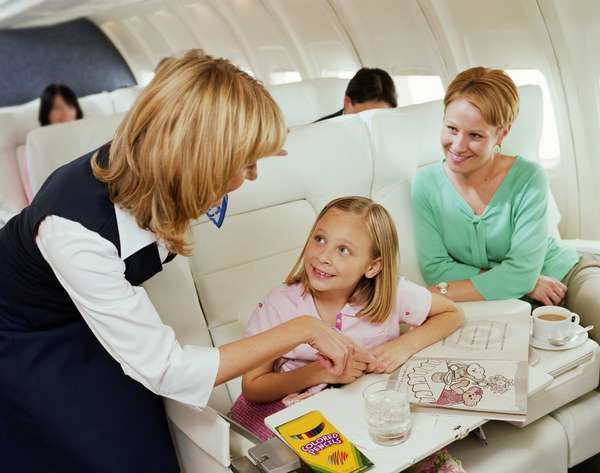 Tips Keep your children comfortable on a plane