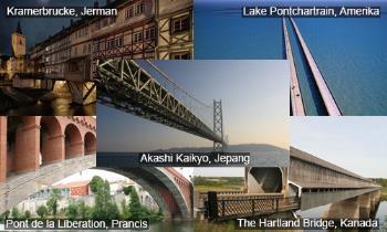 Lima Jenis Jembatan Terpanjang di Dunia