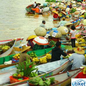 Lima Pasar Apung Indonesia