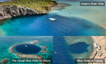 The Three Deepest Blue Holes in The World
